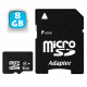 Carte mémoire Micro SD SDHC 8 Go Gb classe 10 appareil photo smartphone - Carte mémoire Micro SD - www.yonis-shop.com