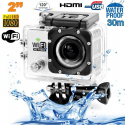 Camera sport wifi étanche caisson waterproof 12 MP Full HD Blanc - Camera sport étanche - www.yonis-shop.com