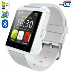 Montre connectée smartwatch Bluetooth Android écran tactile Blanc - Montre connectée - www.yonis-shop.com