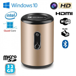Mini PC Windows 10 TV Box Smart TV Média player WiFi Intel 32Go Mini PC Windows YONIS