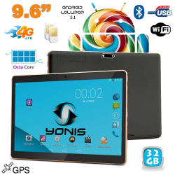 Tablette 4G 9.6 pouces Android 5.1 Dual SIM Octa Core GPS 32Go Noir - Tablette tactile 4G - www.yonis-shop.com