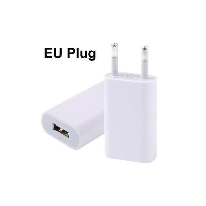 Chargeur secteur adaptateur USB iPhone 5 universel blanc - Chargeur iPhone - www.yonis-shop.com