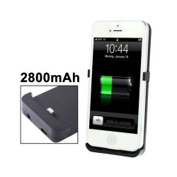 Batterie coque iPhone 5 chargeur 2800 mah Noir - www.yonis-shop.com