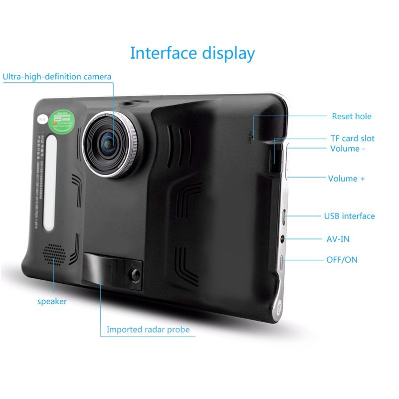 dashcam dvr tablette 7 pouces cam ra gps voiture android. Black Bedroom Furniture Sets. Home Design Ideas