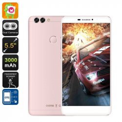 Smartphone 4G 5.5 Pouces Android 6.0 1080P Double Caméra 16Go Or Rose Smartphone 5.5 pouces YONIS