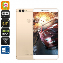 Smartphone 5.5 Pouces 4G Dual Sim Android 6.0 Fhd Dual Caméra 16Go Or Smartphone 5.5 pouces YONIS