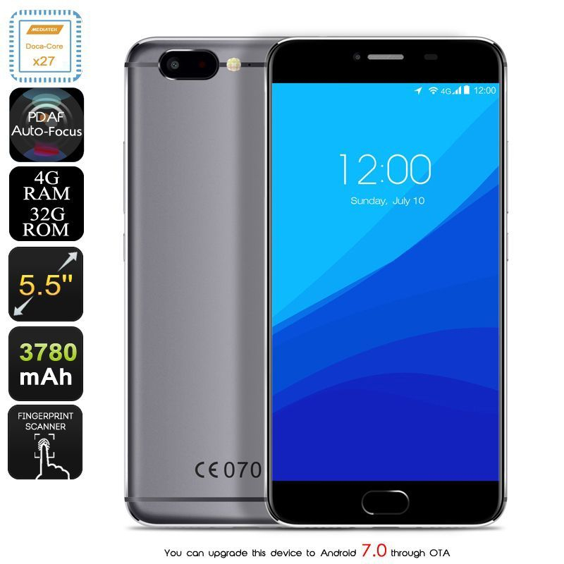 smartphone android 7 0 4g deca core 2 6ghz 4gb ram 5 5. Black Bedroom Furniture Sets. Home Design Ideas