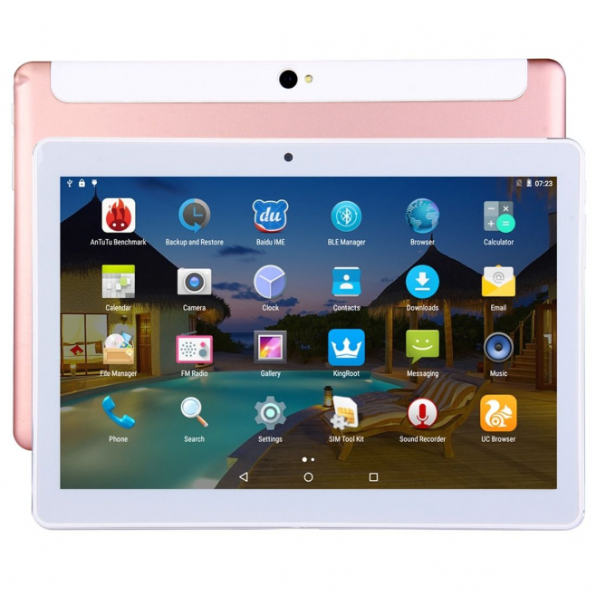 tablette 4g 10 pouces ips 2k android octa core 2go ram 32go or rose. Black Bedroom Furniture Sets. Home Design Ideas