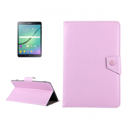 "Housse tablette universelle 8"" Etui Simili Cuir Support Pochette Rose"