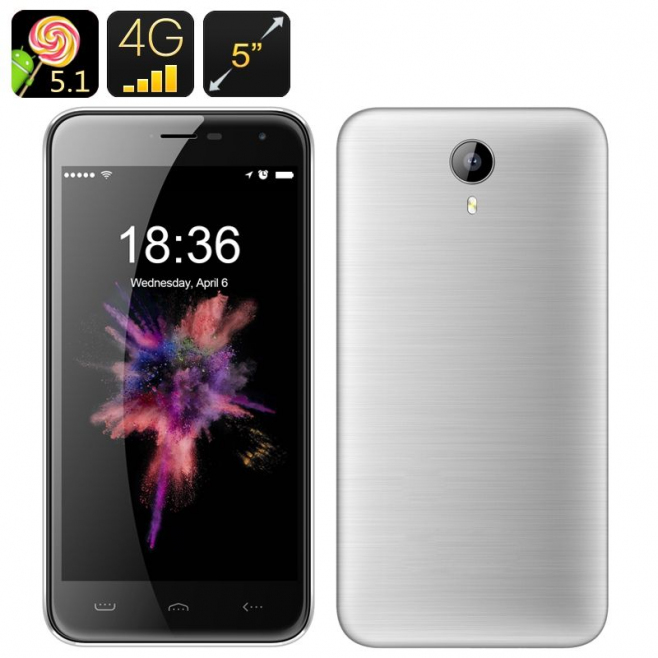 smartphone 5 pouces 4g android 5 1 dual sim 13mp smart wake gps 16go. Black Bedroom Furniture Sets. Home Design Ideas