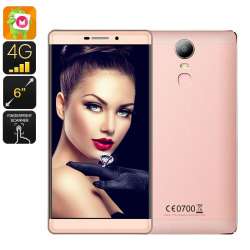 Smartphone 4G Quadcore 6 Pouces Android 6.0 Gorilla Glass Or Rose 16Go Smartphone 6 pouces YONIS