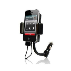 Transmetteur FM iPhone 4 4S 3G 3GS iPod support kit main libre - Transmetteur fm iPhone - www.yonis-shop.com