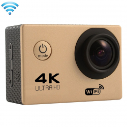 Caméra sport étanche Wifi 4k Slow Motion 16MP grand angle 170° Or - Camera sport étanche - www.yonis-shop.com