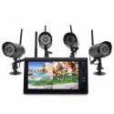 """Wireless Home Security Camera System \\""""Securial\\"""" - 4x Indoor Wireless Cameras, 7 Inch Wireless Monitor, Built-in DVR - Tou..."""