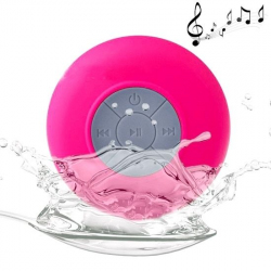 Mini enceinte Bluetooth Waterproof Universelle iPhone Smartphone Tablette Kit Mains-Libres Rose - Enceinte waterproof - www.y...