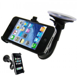 Support ventouse flexible pour iPhone 4 4S voiture holder auto - Autres accessoires iPhone - www.yonis-shop.com