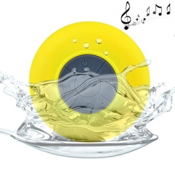 Haut Parleur Bluetooth Enceinte Waterproof Kit Mains Libres Smartphone iPhone Tablette Jaune - Enceinte waterproof - www.yoni...