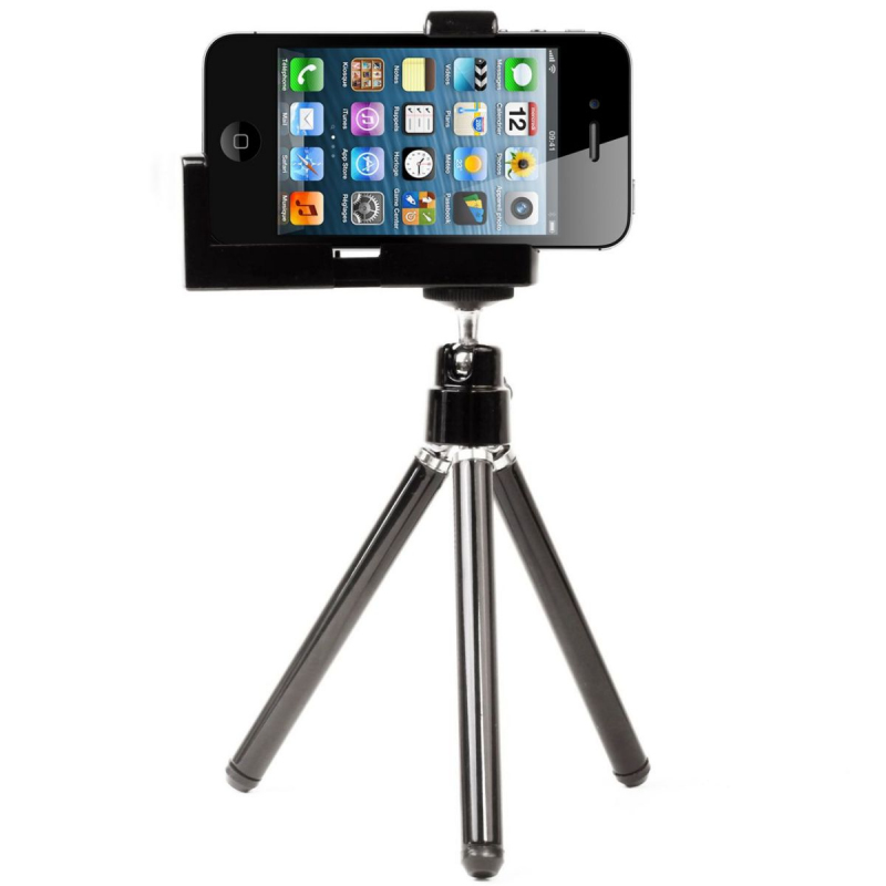 trepied universel iphone 5 4 4s 3g 3gs tripod t l phone smartphone. Black Bedroom Furniture Sets. Home Design Ideas