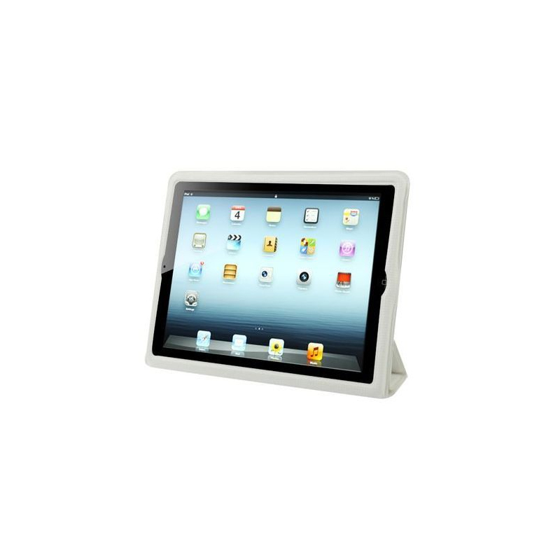 smart cover int grale new ipad 4 retina housse coque blanc quadrill. Black Bedroom Furniture Sets. Home Design Ideas