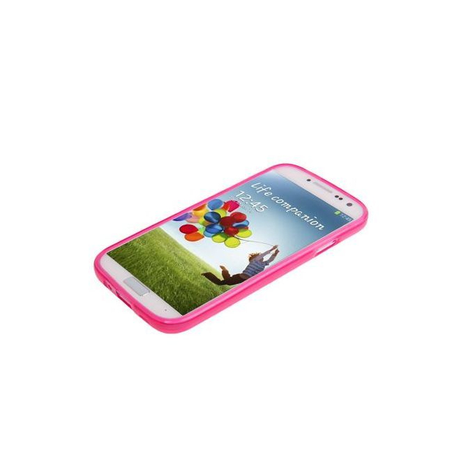 Housse Samsung Galaxy S4 I9500 coque silicone Pure color Rose
