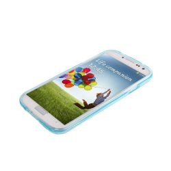 Housse Samsung Galaxy S4 I9500 coque silicone Pure color Bleu