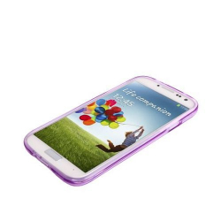 Housse Samsung Galaxy S4 I9500 coque silicone Pure color Violet