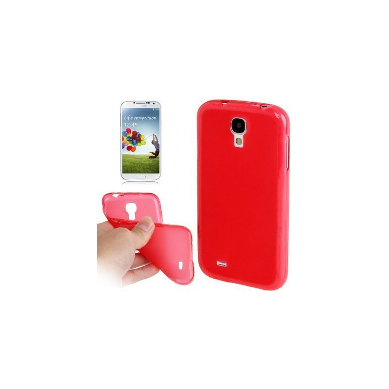 Housse samsung galaxy s4 i9500 coque silicone pure color rouge for Housse samsung galaxy s4