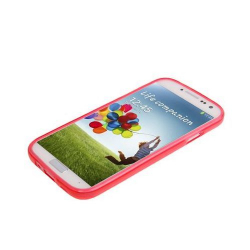 Housse Samsung Galaxy S4 I9500 coque silicone Pure color Rouge