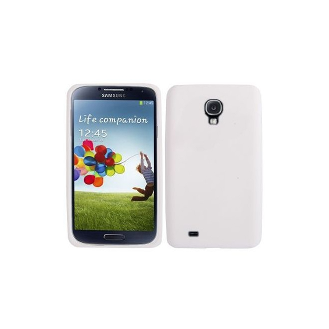 Housse Samsung Galaxy S4 I9500 coque silicone Blanc 5 pouces