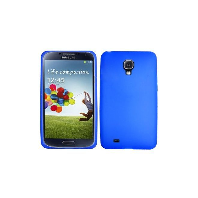 housse samsung galaxy s4 i9500 coque silicone bleu 5 pouces. Black Bedroom Furniture Sets. Home Design Ideas