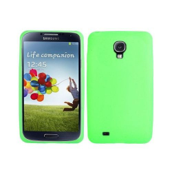 Housse Samsung Galaxy S4 I9500 coque silicone Vert 5 pouces