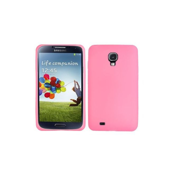Housse Samsung Galaxy S4 I9500 coque silicone Rose 5 pouces