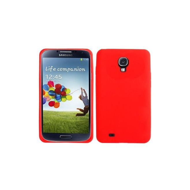 Housse Samsung Galaxy S4 I9500 coque silicone Rouge 5 pouces