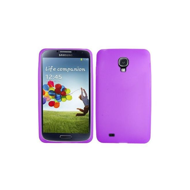 Housse Samsung Galaxy S4 I9500 coque silicone Violet 5 pouces