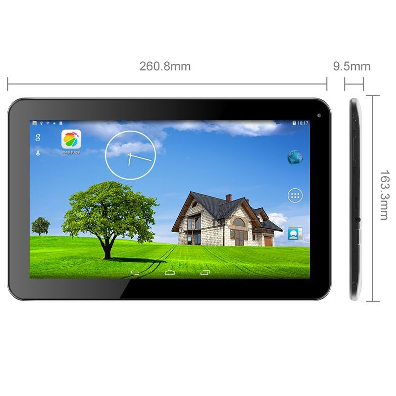 tablette 10 pouces android 4 4 quad core gps hdmi bluetooth 24 go. Black Bedroom Furniture Sets. Home Design Ideas