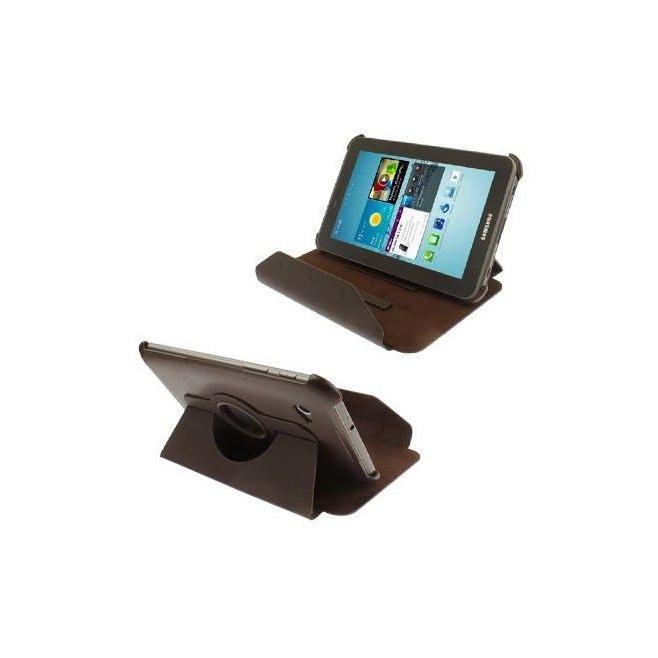 Housse Samsung Galaxy Tab 2 P3100 P6200 étui 7 pouces 360° Marron - Housse tablette Samsung 7 pouces - www.yonis-shop.com