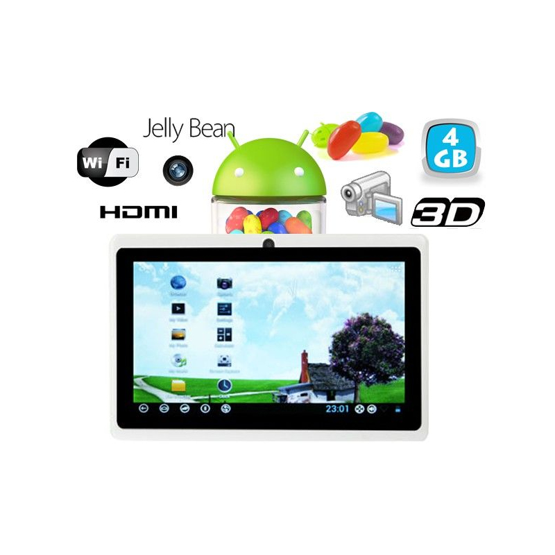 tablette tactile android 4 1 jelly bean 7 pouces hdmi 4 go. Black Bedroom Furniture Sets. Home Design Ideas