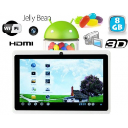 Tablette tactile Android 4.1 Jelly Bean 7 pouces 8 Go Blanc - Tablette tactile 7 pouces - www.yonis-shop.com