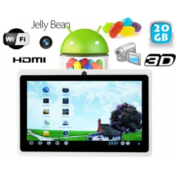 Tablette tactile Android 4.1 Jelly Bean 7 pouces 20 Go Blanc