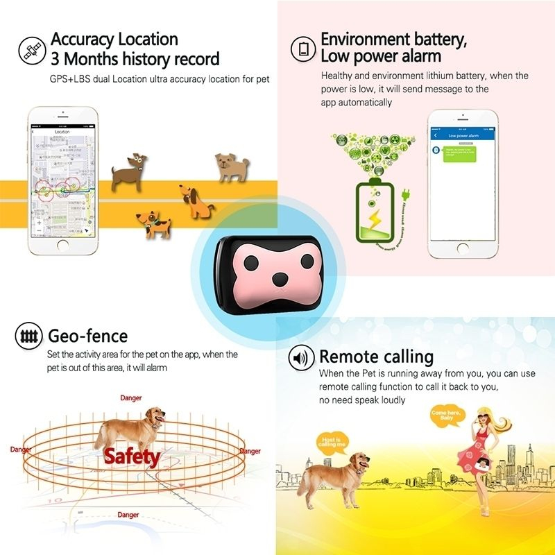 traceur gps compatible iphone android tracker pour chats chiens. Black Bedroom Furniture Sets. Home Design Ideas