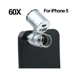 Microscope pour iPhone 5 zoom 60X LED UV