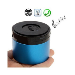 Enceinte Bluetooth smartphone tablette kit mains libres Bleu - Enceinte Bluetooth - www.yonis-shop.com