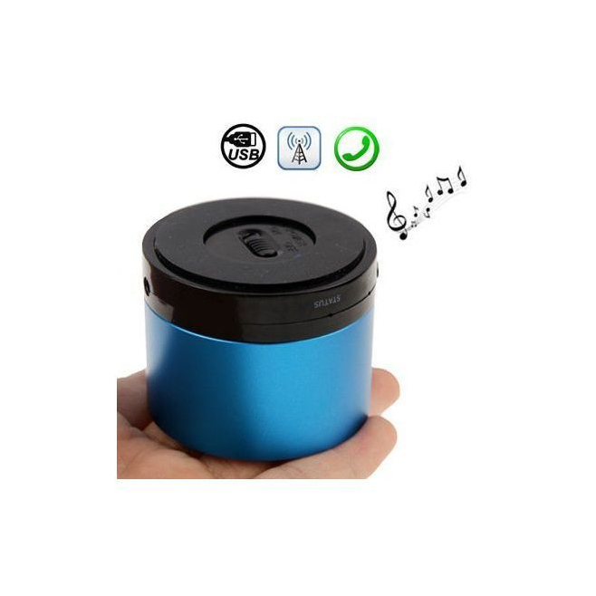 enceinte bluetooth smartphone tablette kit mains libres bleu. Black Bedroom Furniture Sets. Home Design Ideas