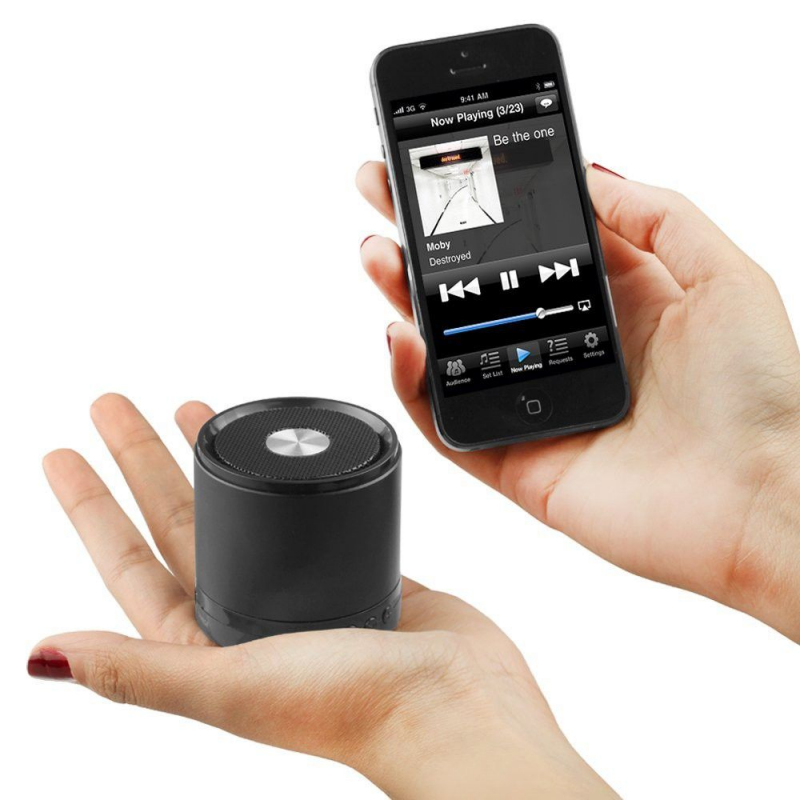 enceinte bluetooth smartphone tablette kit mains libres noir. Black Bedroom Furniture Sets. Home Design Ideas