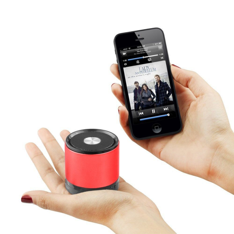 enceinte bluetooth smartphone tablette kit mains libres rouge. Black Bedroom Furniture Sets. Home Design Ideas