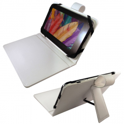 Housse universelle tablette tactile 7 pouces support fin étui Blanc