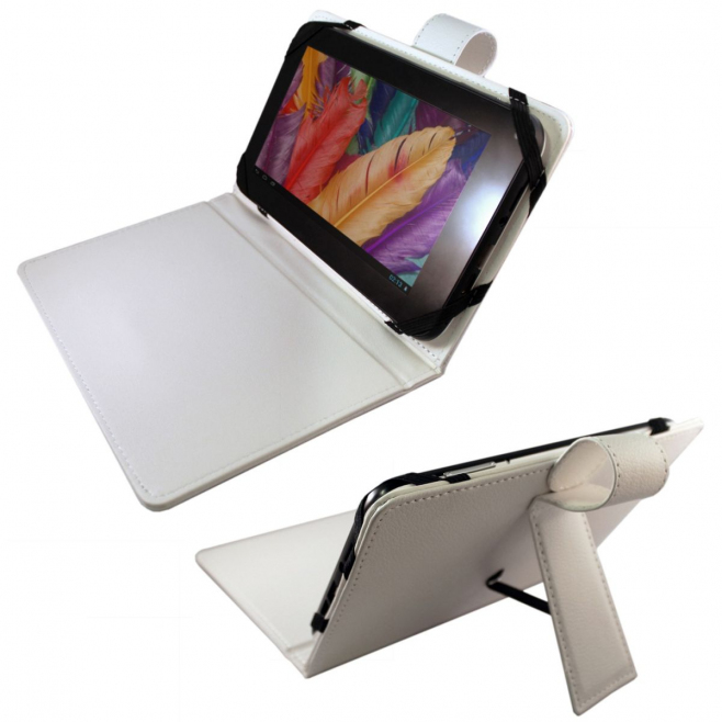 Housse universelle tablette tactile 7 pouces support fin étui Blanc - Housse tablette - www.yonis-shop.com