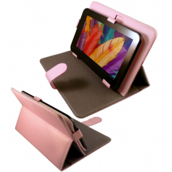Housse universelle tablette tactile 7 pouces support étui Rose - Housse tablette - www.yonis-shop.com