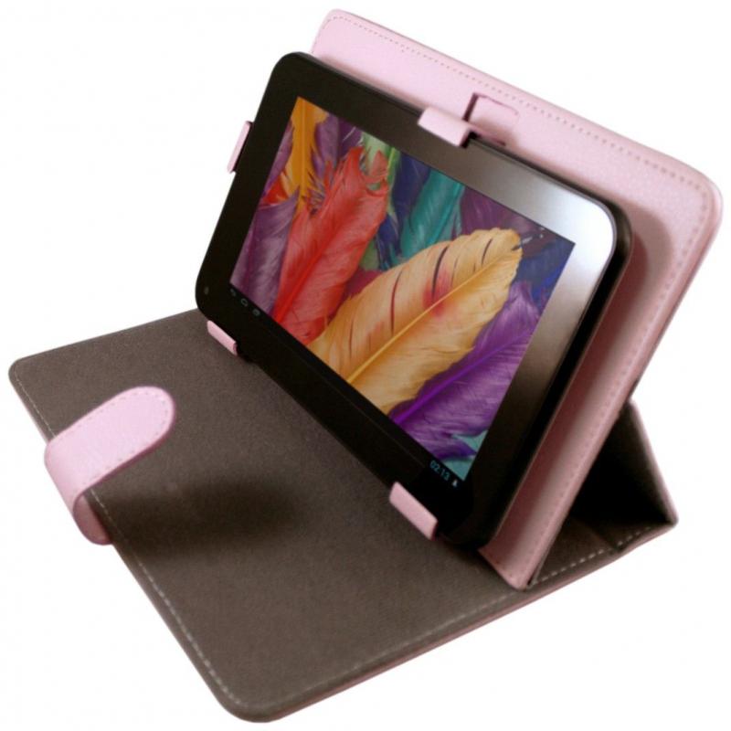 Housse universelle tablette tactile 7 pouces support tui rose - Tablette tactile 14 pouces ...