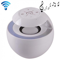 Enceinte portable bluetooth universelle kit mains libres LED Blanc